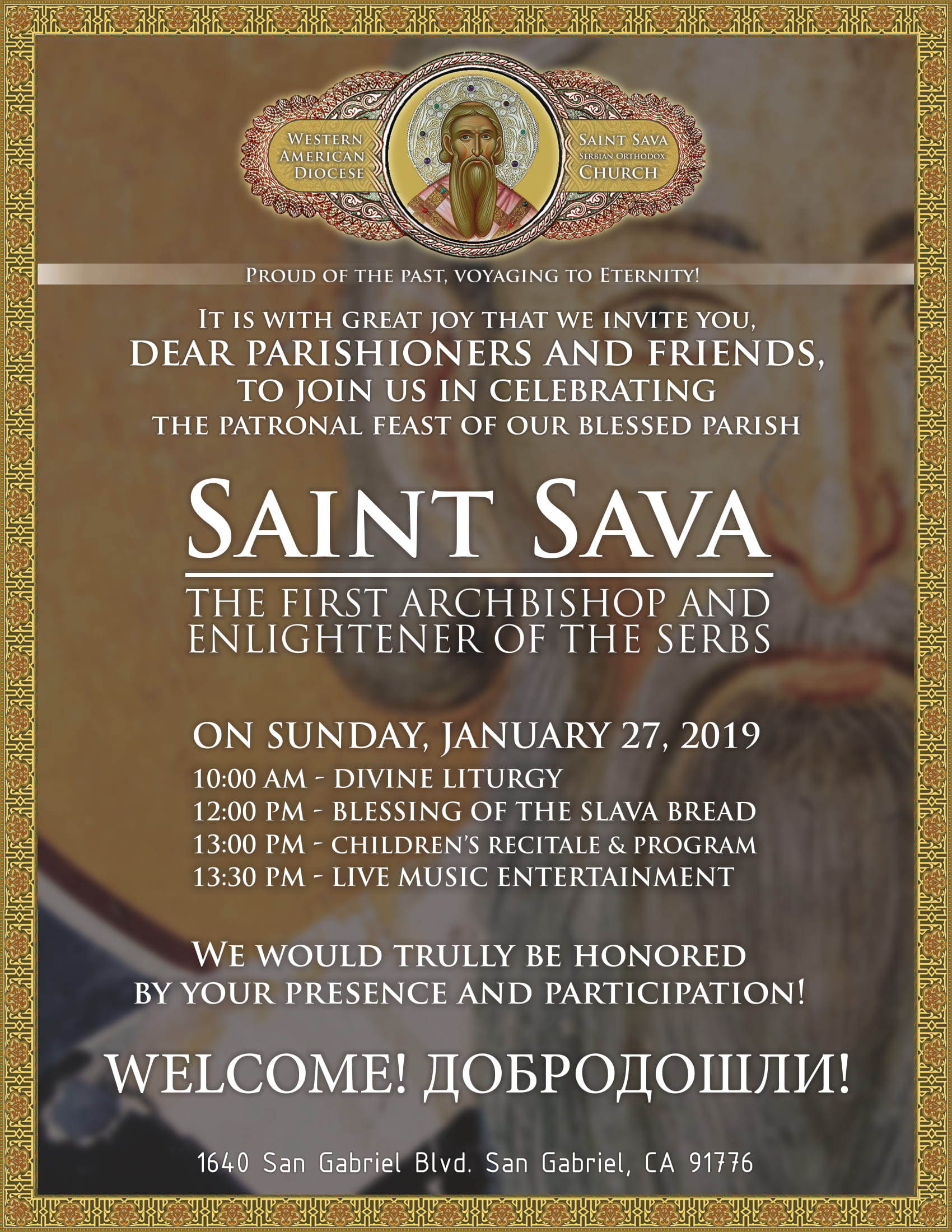 SAINT SAVA CELEBRATION